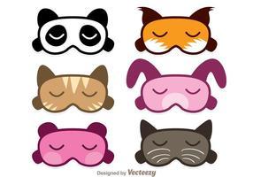 Vecteurs de masque de sommeil animal vecteur
