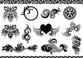 Vecteurs de tatouage vecteur