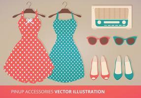 Accessoires vectoriels Pinup vecteur