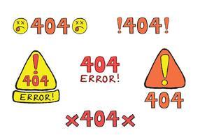 Série gratuite de vecteurs 404