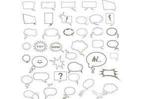 Vecteurs de bulles de parole