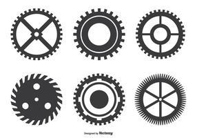 Assortiment de forme de rouleau de roue dentée vecteur