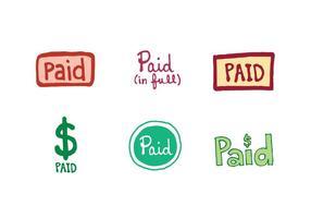 Série gratuite de vecteurs d'icônes payés