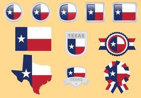 Vecteurs de drapeau du Texas vecteur