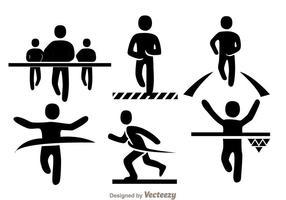 Icônes de course de sprint