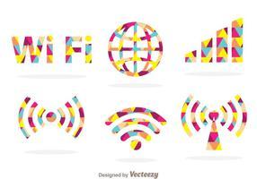 Symbole Wifi coloré vecteur