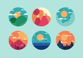 Libre 6 vecteurs de montagne