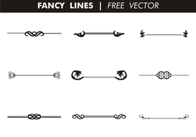 Lignes de fantaisie décoratives vecteur gratuit