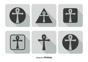 Ensemble d'icônes clés de la vie