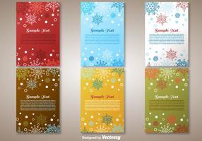 Cartes de vœux de Noël vecteur