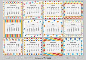 Modèle de calendrier 2016 vecteur