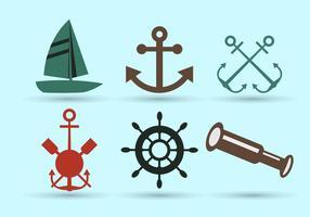 Symboles nautiques vecteur