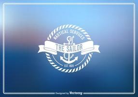 Emblème nautique vintage à vecteur libre