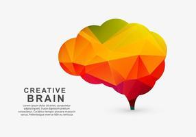 Cerveau créatif coloré vecteur