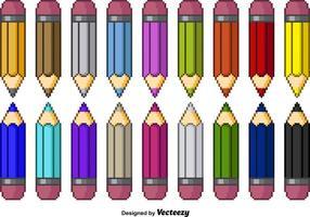 Crayons de couleur Pixel