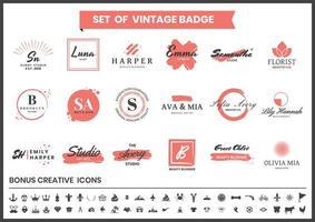 studio rouge et blanc, maquilleurs, jeu de logo de blogueurs