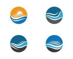 ensemble de logo de vague d'eau