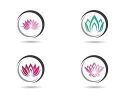 jeu d'icônes de logo coloré rond