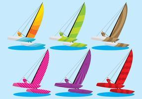 Vecteurs de catamaran colorés