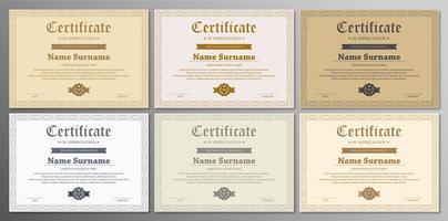 ensemble de modèles de certificats