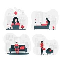 jeunes professionnels travaillant à domicile
