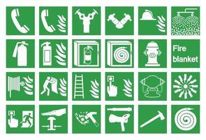 ensemble de symboles et d'icônes d'urgence