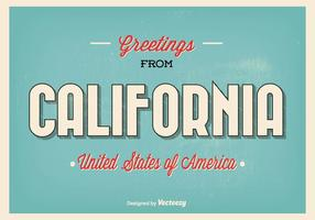 Salutations de l'illustration de la Californie vecteur
