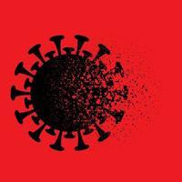 cellule de virus fracassant médicale vecteur