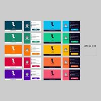 carte de visite colorée sertie de bordures