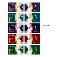 carte de visite colorée sertie de conception de cercle vecteur