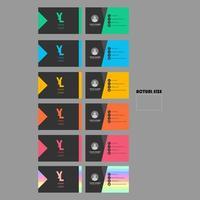 carte de visite lumineuse sertie d'un design angulaire