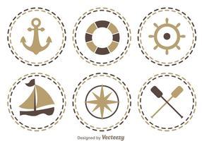 Icônes nautiques vecteur