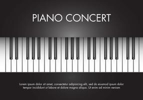 Vecteur gratuit de piano de musique classique