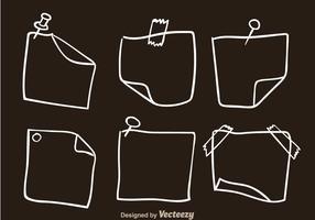 Style d'esquisse de note papier vecteur