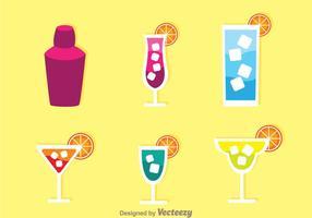 Icônes de cocktails d'alcool vecteur