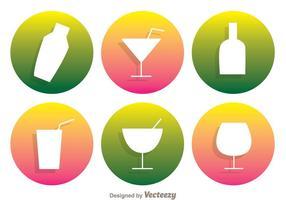 Icônes de vecteur de cocktail