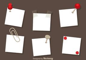 Vecteurs de note papier