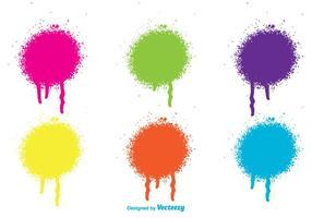 Gouttes de peinture par pulvérisation