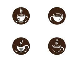 ensemble de logo rond tasse à café