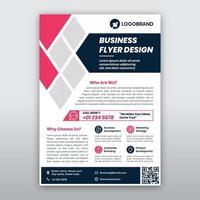 modèle de flyer d'affaires rose et gris moderne
