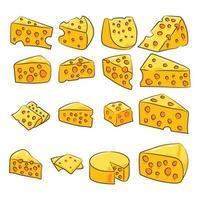 ensemble de fromage de dessin animé vecteur