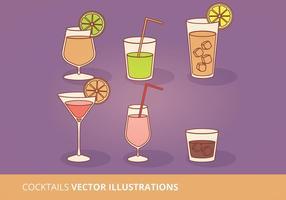 Collection de cocktails vectoriels vecteur