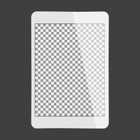 tablette blanche avec écran transparent vecteur