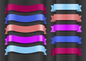 Rubans colorés vecteur