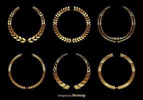 Couronnes dorées vecteur