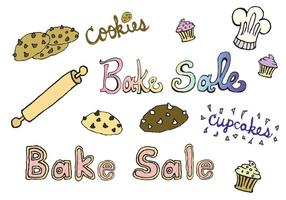Série de vecteur de vente de boulangerie gratuite