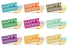 Bon Hanukkah vecteur