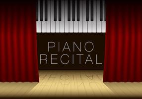 Modèle de récital de piano vecteur