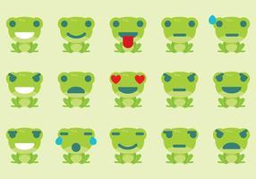 Vecteurs Emoticon Grenouille