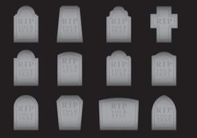 Vecteurs de pierres tombales